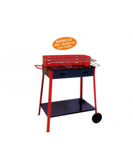 BARBECUE 40X60 C/RUOTE